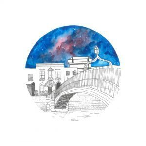 Hapenny bridge illustration
