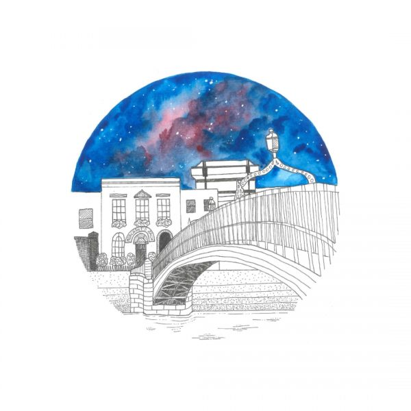 Hapenny bridge illustration