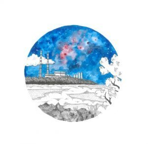 Poolbeg Chimney Art Print