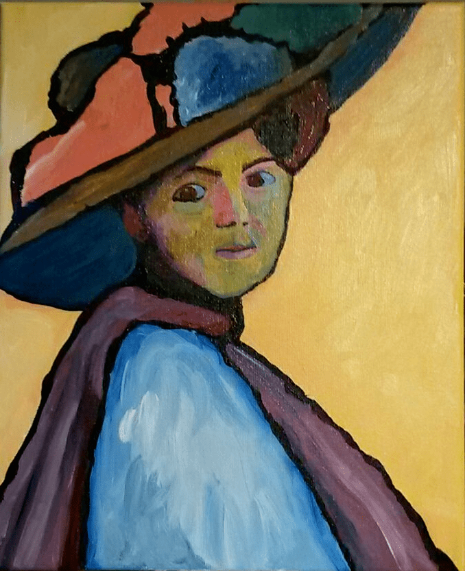 Gabriele Münter inspired acrylic painting