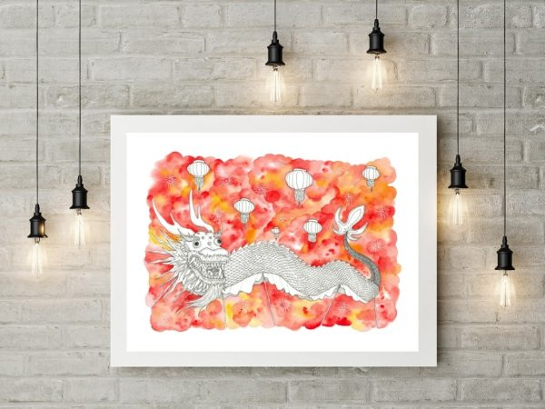 Chinese Dragon Wall Art