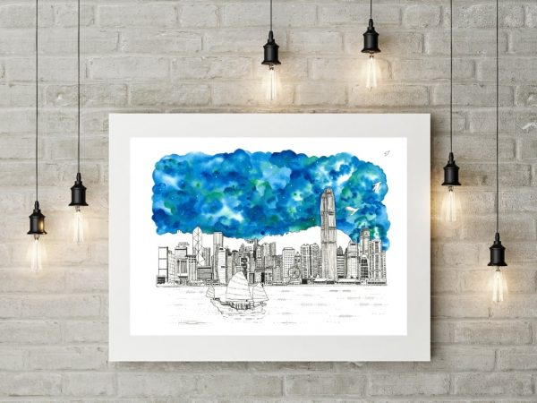 Hong Kong Skyline Wall Art