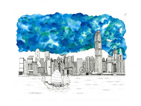 Hong Kong Skyline Fine Art Print