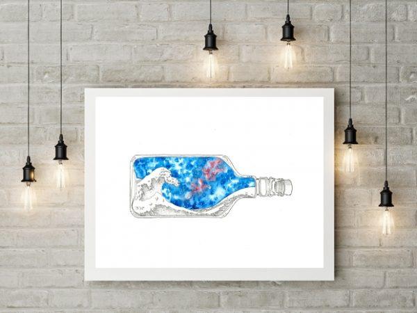 Hokusai inspired artwork