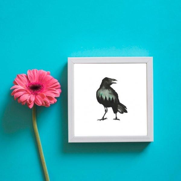 black crow wall art