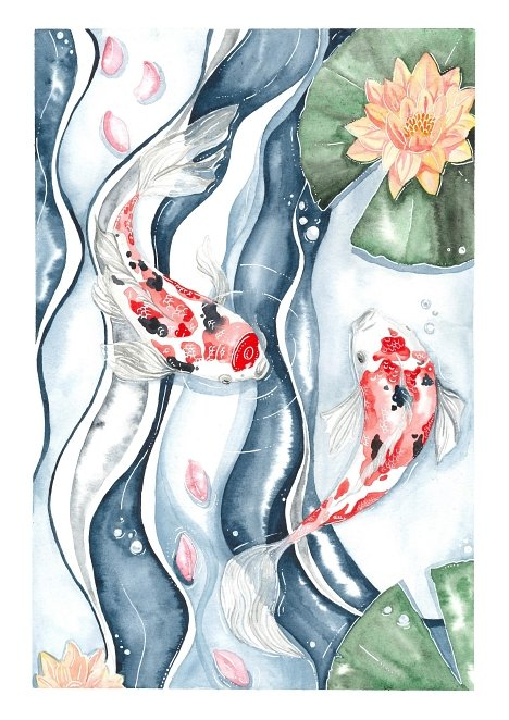 Koi Fish Modern Painting